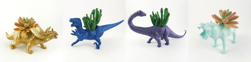 office secret santa gifts workplace kris kringle ideas dinosaur planters