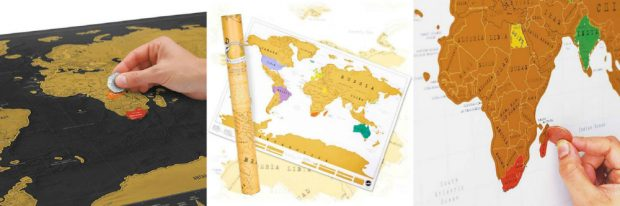 office secret santa gifts workplace kris kringle ideas travel scratch maps