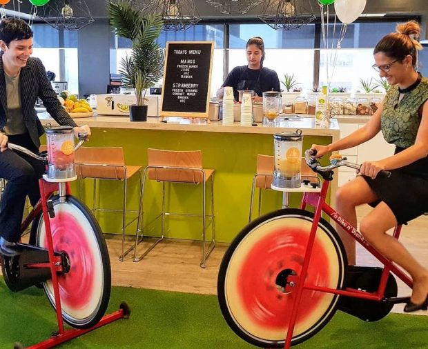 corporate health and wellness initiatives in the workplace bike blenders