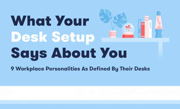 what your desk setup says about you.infographic