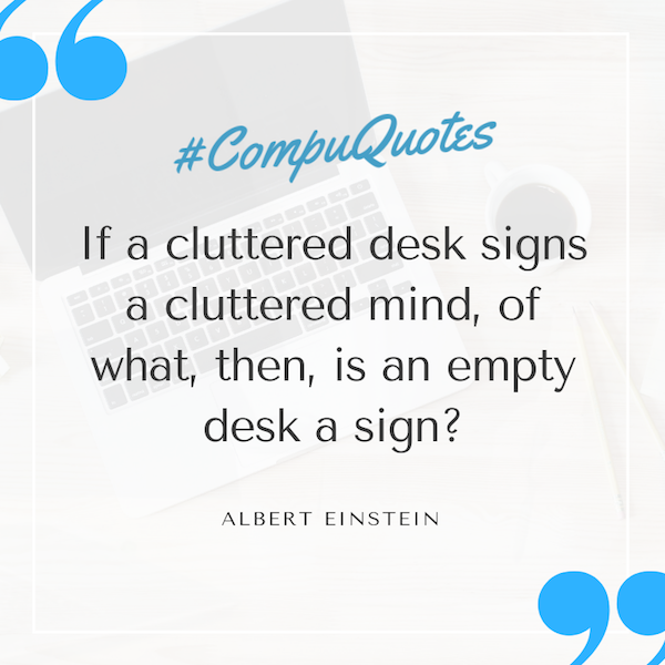 albert einstein quote on messy desks