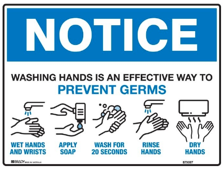 handwashing reminder signs for a covid-safe workplace